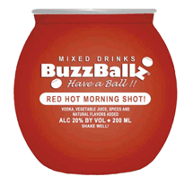 Buzzballz Red Hot Morning Shot! 750ml